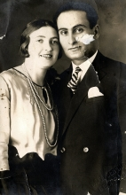 Nisim Navon's maternal uncle Haim Baruhovic and his first wife, Gilda