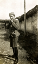 Jakov Baruh, Nisim Navon's cousin, in Serbian army uniform