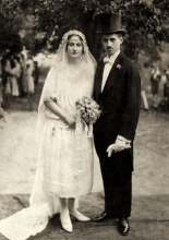 Wedding photo of Miklos and Margit Preisz