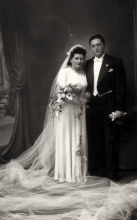 Wedding picture of Bozsi and Jozsef Vajda