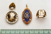 Samuil Rabinovich's badges and ring