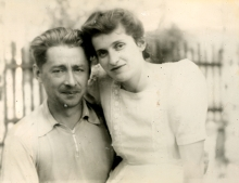 Moisey Plotkin with his second wife Marianna