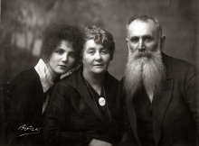 Mikhail Ogranovich with his wife Rahil and daughter Matilda