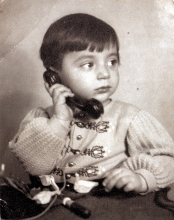 Peter Reisz as a small child