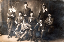Jakov Kalef in Turkey wearing a fez