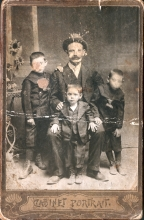 Nisim Kalef with his three sons