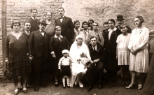 Family picture from Avram and Dona Kalef's wedding