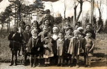 Matilda Cerge and her class from the Jewish kindergarten
