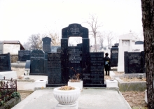 The Bruck and Nemenyi family graves in Subotica's Jewish cemetery