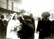 Magda Frischmann on a wedding before her deportation