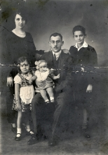 Eli Perahya with his parents and siblings