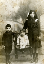 Eli Perahya with his brother Albert and aunt Cecile