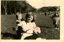 Meri Bryant with her children Benny and Debbie