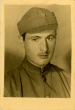 Eli Finanser during his 20 classes military service