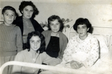Shlomo Bozo with his mother Leyla Bozo and relatives
