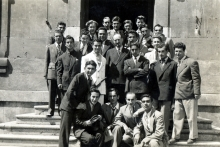Harun Bozo with his fellow students at the St. Benoit Lycee