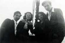 Harun Bozo with friends at an outing at the Rumeli Hisari fortress