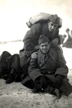 Harun Bozo and Mario Kohen during military service