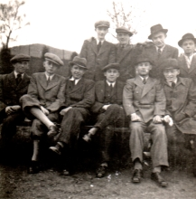 Ernest Galpert with his Jewish schoolmates