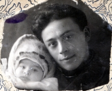 Engelina Goldentracht with her father Vladimir Zorin