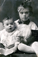 Engelina Goldentracht  with her brother Julen Zorin