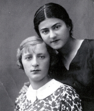 Rosa Gershenovich with her friend Polia Glozman