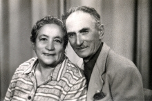 Henrich Moshkovich with his wife
