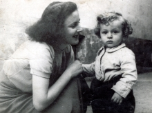 Clara Weber and her son