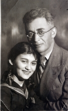Jemma Grinberg's father's brother Yevsey Grinberg and his daughter Stella