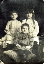 Alexandr Rozin and his sisters