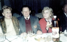 Ruvin Gitman with his second wife Ludmila Gitman at the first celebration of Purim in Chernovtsy in 1996