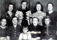 Seraphima Gurevich with her family