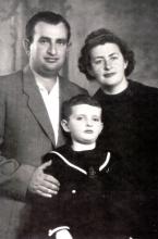 Seraphima Gurevich with her husband, Isaac Tomengauzer and  their son, Roman Tomengauzer