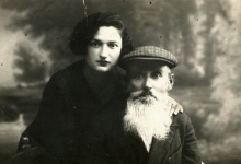 Abe-Shmul Medved and his youngest daughter