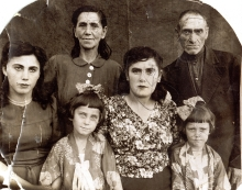 Yakov Driz's family after liberation from the Tomashpol Jewish ghetto