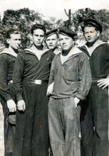 Yakov Driz's with the sailors of the Pacific Navy
