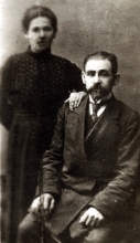 Jakov Josifovich Ansher and his wife Khanna Mikhailovna