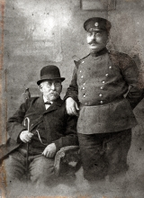 Matilda Albuhaire's paternal grandfather, Yacov Mercado Albuhaire, with his son Avram Albuhaire