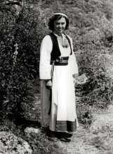 Elvira Kohn in a traditional Dubrovnik dress