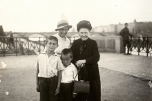 Great-grandmother Epsteinova out for a walk with her family