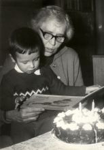 Anna Synkova with her great-grandson
