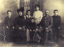 Berta and Josef Ginz and their children