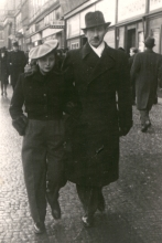 Gabriela Brodska with her husband