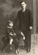 Ladislav Porjes with his father Arpad Porjes