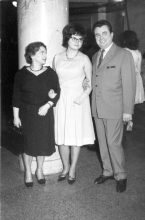 Ruth Goetzova with her husband Jiri and stepdaughter Miluska at dancing lessons