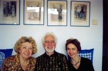 Toman Brod with wife Libuse and daughter Sarka