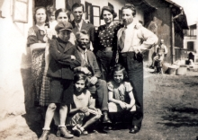 Ferenc Deutsch's family in Putnok
