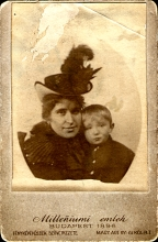 Hermina Sebestyen and her son, Erno