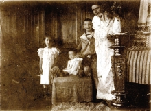 Hermina Sebestyen with her children