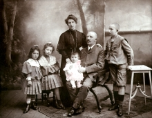 Mano Sebestyen and his family